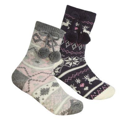 Girls Fairisle Lounge Sock