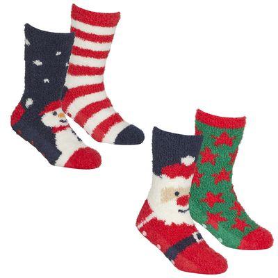 Kids 2 Pack Christmas Cosy Sock