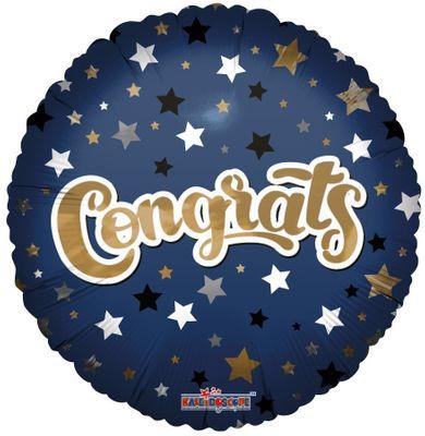 Congrats Blue Star Balloon(18 Inch)