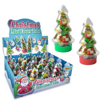 Mini Christmas Tree Erasers
