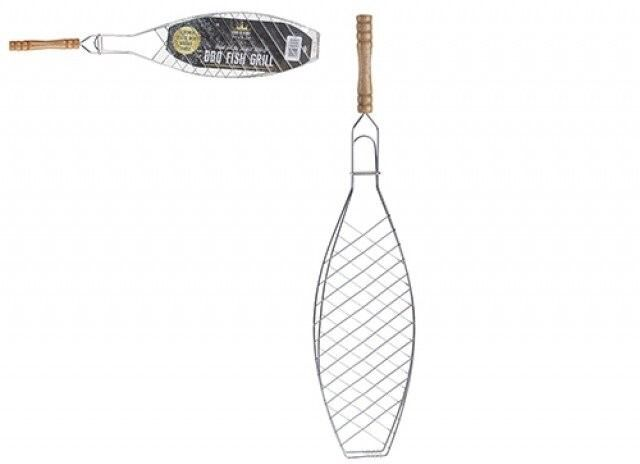 Bbq Fish Grill Chrome Plated