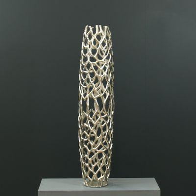 99cm Aluminium Perforated Vase