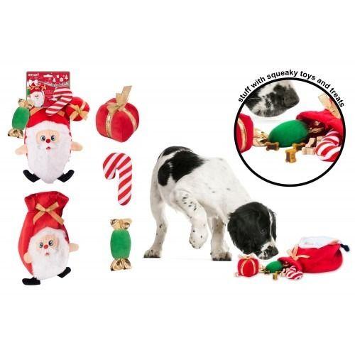 Hide and Seek Santa Dog Toy (28cm)