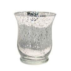 Silver Glass Hurricane Vase