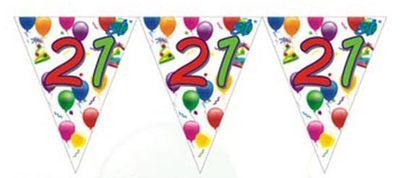 21st Birthday Flag Banner