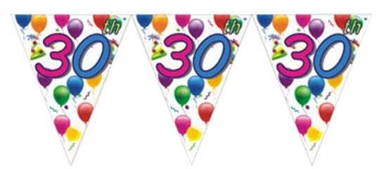 30th Birthday Flag Banner