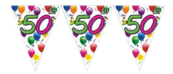 50th Birthday Flag Banner