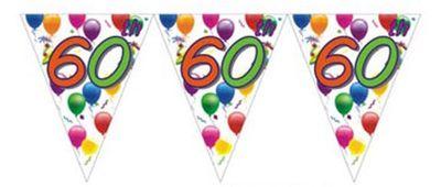 60th Birthday Flag Banner