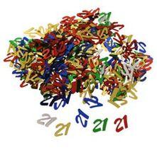 Multi Coloured 21s Confetti