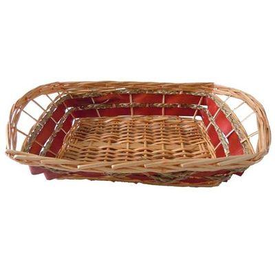 Rectangle Double Stripe Tray Basket