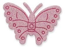 Pink Sticky Glittered Butterfly