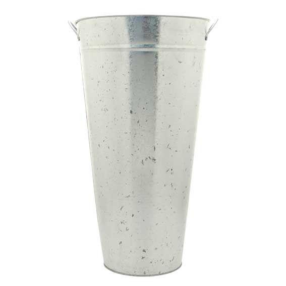 60cm Galvanised Vase