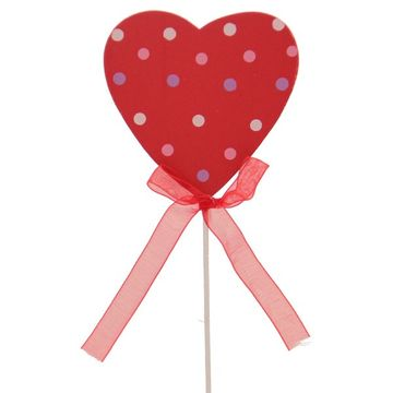 Polka Dot Heart Pick