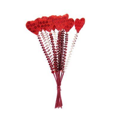 Small Heart Picks - (x12)