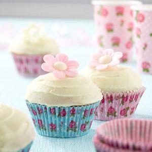 Vintage Rose Cup Cake Cases