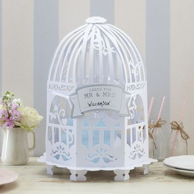 Round Birdcage Card Holder