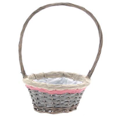 Grey Wash Basket with Handle