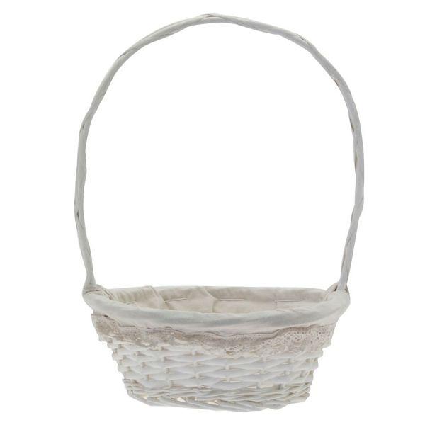 Lace White Basket