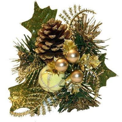 Gold Christmas Pick