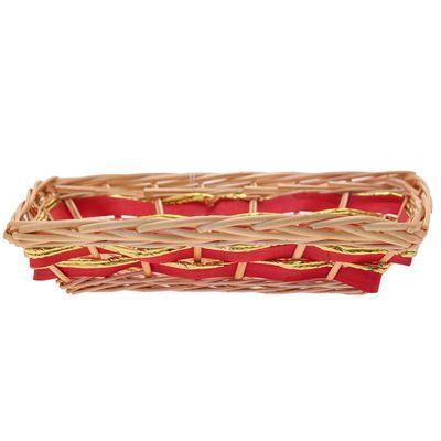Red / Gold Rectangular Tray