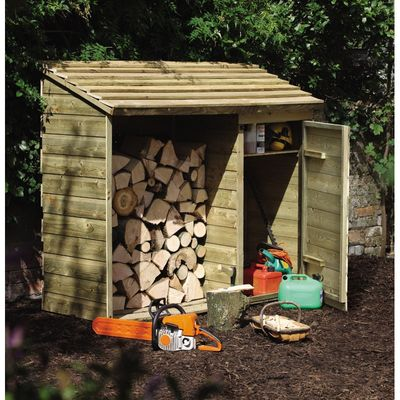 Forest Garden Log and Tool Store