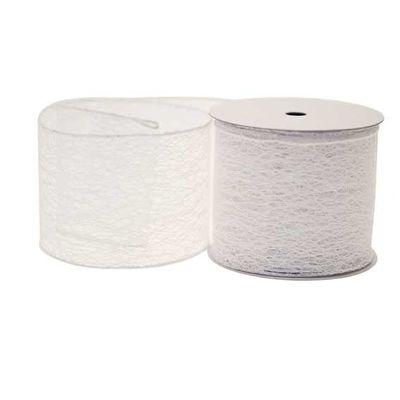 White Webbed Ribbon