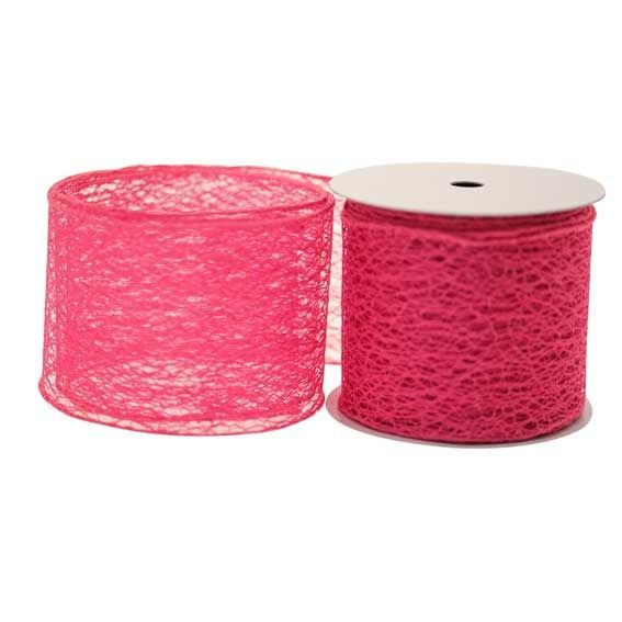 Hot Pink Web Ribbon