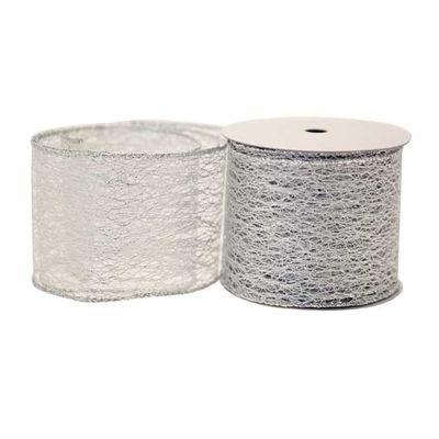 Silver Web Luxury Ribbon