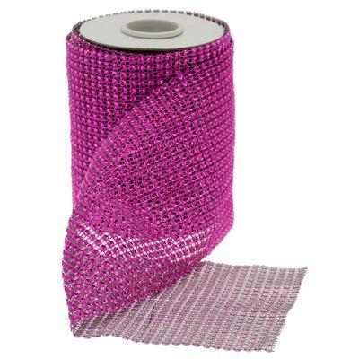 Pink Diamante Ribbon