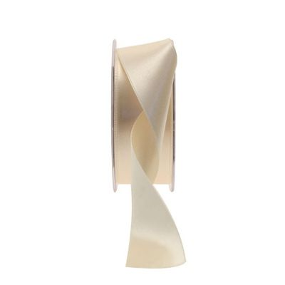 35mm Oyster Satin Ribbon