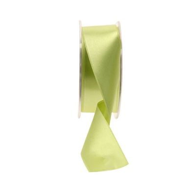 35mm Fluorescent Yellow satin Ribbon
