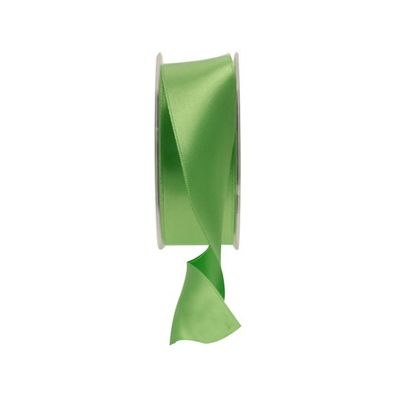35mm Green Satin Ribbon