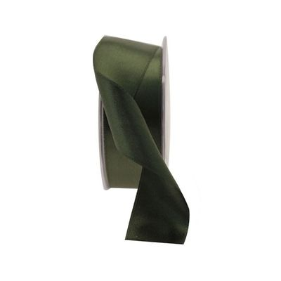 35mm Dark Green Satin Ribbon