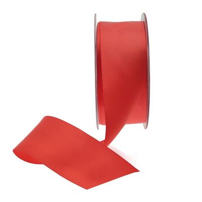 35mm Bright Red Satin Ribbon