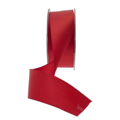 35mm Deep Red Satin Ribbon