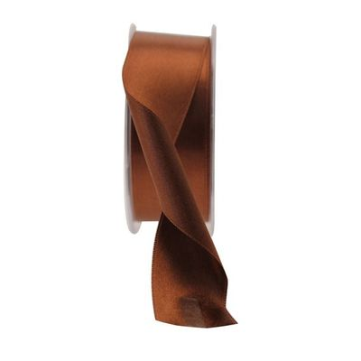 35mm Brown Satin Ribbon