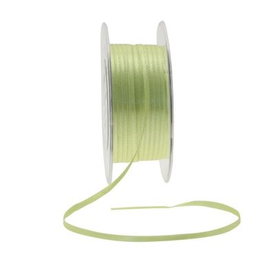 3mm Fluorescent Yellow Satin Ribbon