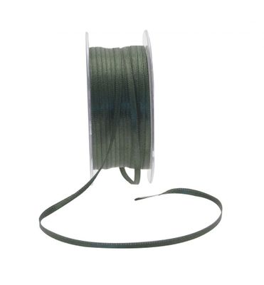3mm Dark Green Satin Ribbon