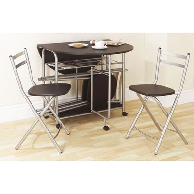 Gablemere Stowaway Dining Set - Black
