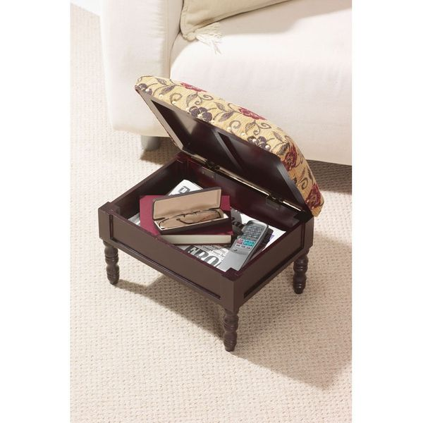 Gablemere Storage Footstool - Open