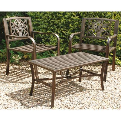 Gablemere Metal Armchairs and Low Table
