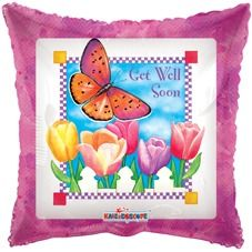 Get Well Spring Helium Balloon