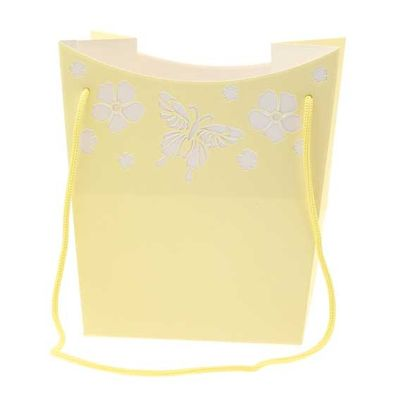 Yellow Butterfly Hand Tie Bag