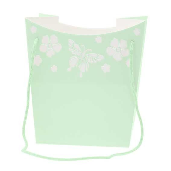 Green Butterfly Hand Tie Bag