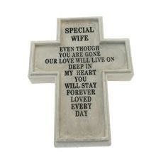 Resin Memorial Cross