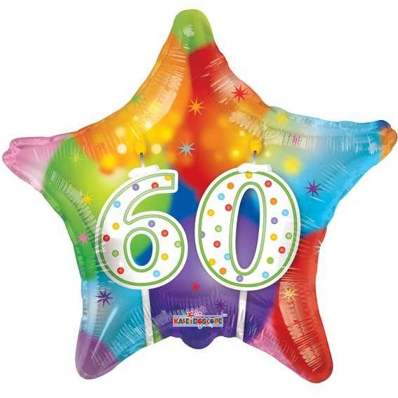 60th Birthday Star Balloon