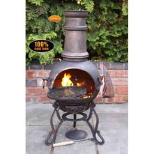 Gardeco Toledo Cast Iron Chimenea - Medium - Bronze