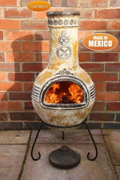 Gardeco Azteca Clay Chimenea - Large