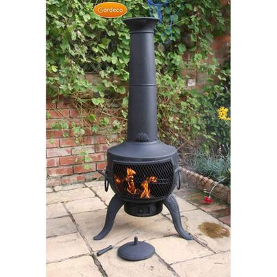 Gardeco Tia Cast Iron Chimenea - Black