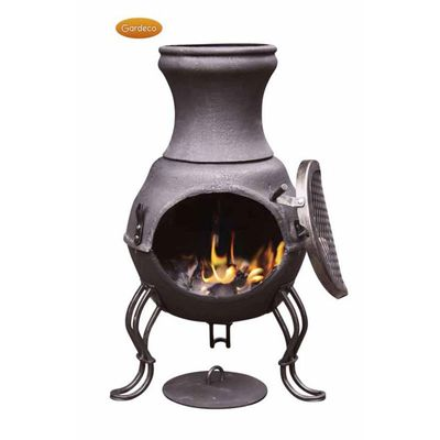 Gardeco Billie Cast Iron Chimenea - Bronze